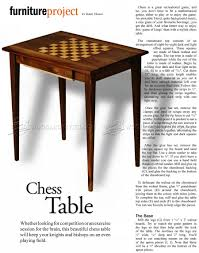 chess table plans u2022 woodarchivist