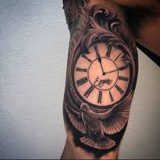 Tattoos On Biceps For - guys inner biceps clock and lovely dove ink ink and