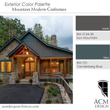 beautiful exterior color palette perfect for mountain home bm