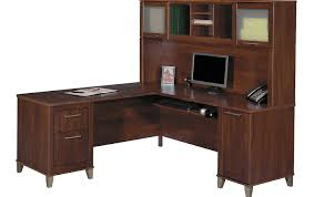 L Shaped Desk For Home Office Desk Business Executive Office B 39 0 Stunning Cherry Wood L