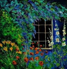 70 best paintings of gardens images on pinterest paintings oil