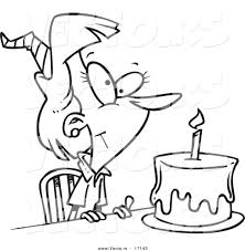 cartoon birthday cake outline image inspiration of cake and