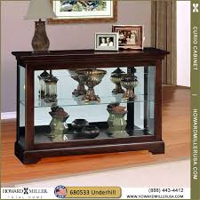 curio display cabinet plans stylish cherry finish curio console display cabinet back mirror