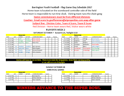flag game schedule oct 7th 8th playoffs week 2 flag rules