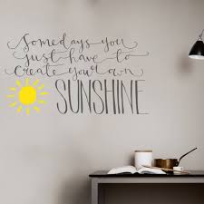 create your own sunshine wall sticker motivational quote zoom