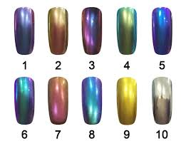 chrome nail powder 10 colors chameleon pigment diy from ice company