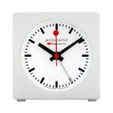 kate spade desk clock mondaine white dial unisex desk clock a996 alig 10sbb clock