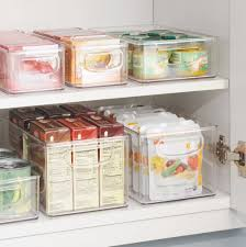 Cabinet Organizers For Kitchen Amazon Com Interdesign Refrigerator Freezer And Pantry Storage