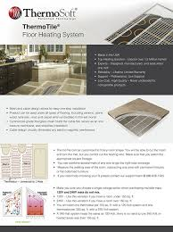 Heated Floor Under Laminate 15 0 Sq Ft 120v Ceramic U0026 Stone Tile In Floor Heating Mat