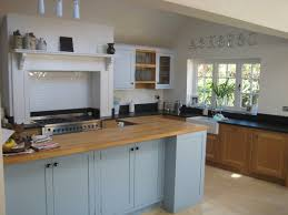 burcott hertfordshire painted shaker kitchen aga tile ideas