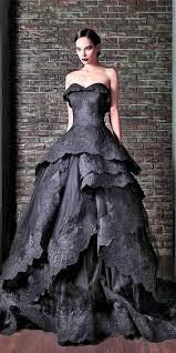 black wedding dress 21 black wedding dresses with edgy elegance black wedding