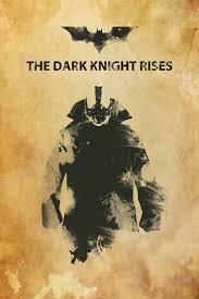 the dark knight rises minimalistic grunge banner by haykazkhroyan