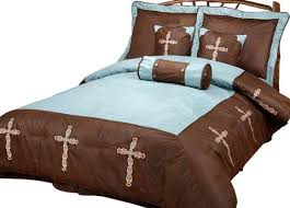 Western Bedding Set Rwba9094 Sq Turquoise Cross Western 7 Bedding Set