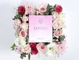 bloom box versace bright crystal perfume and flowers
