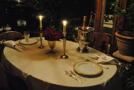 Romantic Dinner At Home by Lines From Linderhof November 2011
