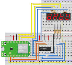 driving 7 segment displays with 74hc595 linkit 7697 for arduino