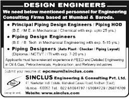 piping design engineer job description jobs in sinclus engineering consulting pvt ltd vacancies in