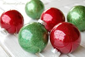 glitter ornaments using clear plastic bulbs the ornament