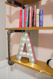 Letter Shelf Diy Marquee Letter For The Steampunk Nursery