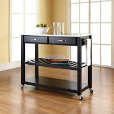 countertops kitchen island cart with stainless steel top the