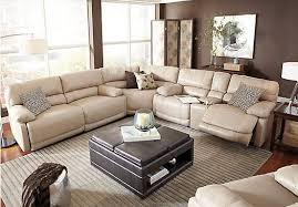 cindy crawford recliner sofa cindy crawford home auburn hills taupe leather 3 pc reclining