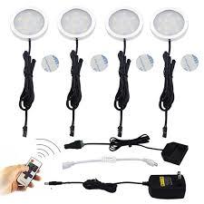 plug in under cabinet led lighting led under cabinet lighting kit 4 packs of 12v puck lights ar111