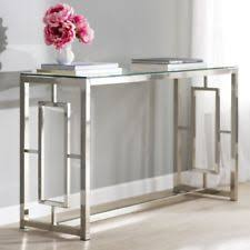 Glass Entry Table Glass Sofa Tables Ebay