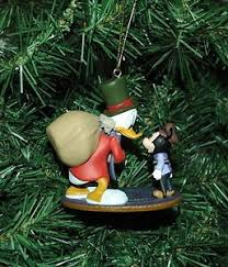 scrooge mcduck as ebenezer scrooge with tiny tim