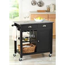 dolly kitchen island cart home styles dolly black island cart walmart com beautiful