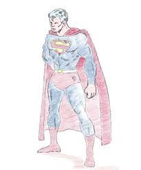 cartoon superman pencil draw drawing sketch