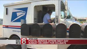 postal service next day sunday delivery for holidays wtnh