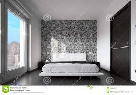 modernes schlafzimmer mit wandpapier stockfotografie bild 25694762