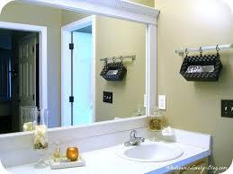 Trim Around Bathroom Mirror Wood Trim Around Bathroom Mirrors The Best Crown Molding Mirror