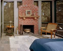 rustic brick fireplace mantel all home decorations