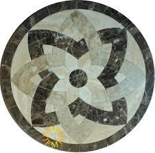 marble fleur de lis floor medallion for the foyer medallionus com