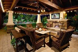 Patio Furniture Lighting Outdoor Covered Patio Lighting Patio Mediterranean With Patio