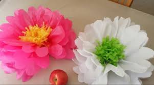 Paper Flower Easy Tissue Paper Flowers 5 Steps With Pictures