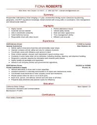 Driver Sample Resume by Best Hub Delivery Driver Resume Example Livecareer