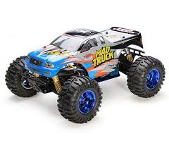1 10 mad truck rc monster truck electric 4wd blue zandatoys