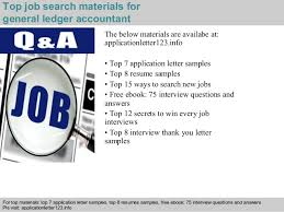 General Ledger Accountant Resume Sample by General Ledger Accountant Application Letter