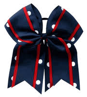 softball hair bows team bows