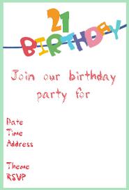 creative 21st birthday ideas and party invitations