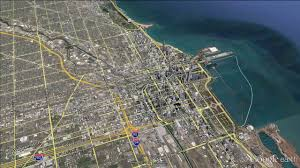 Google Map Chicago by Chicago Google Earth Fly By Zoom In Youtube