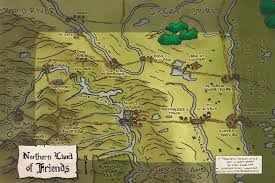 Map My Friends I Illustrated A Toponymic Fantasy Style Map Of North Dakota