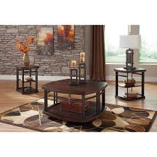 3 piece coffee table set signature design by ashley challiman 3 piece coffee table set