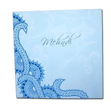 mehndi card mnd01b cyan blue henna pattern mehndi invitation card 0 15