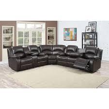 Leather Recliner Sectional Sofa Samara Family Bonded Leather Reclining Sectional Sofa Free
