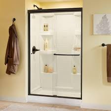 home depot glass shower doors delta simplicity 48 in x 70 in semi framed sliding shower door