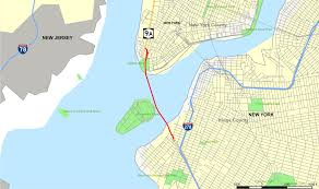 Map Of Manhattan New York City by Brooklyn U2013battery Tunnel Wikipedia
