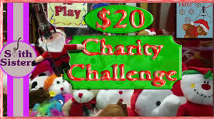 20 claw machine charity challenge game room wins for charity